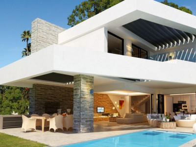 San Pedro de Alcantara, Modern off-plan villa in a quiet residential area in San Pedro de Alcantara