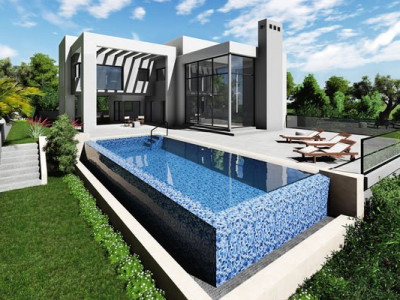 Benalmadena, Stunning contemporary villa with sea views and an infinity pool in Benalmadena Costa