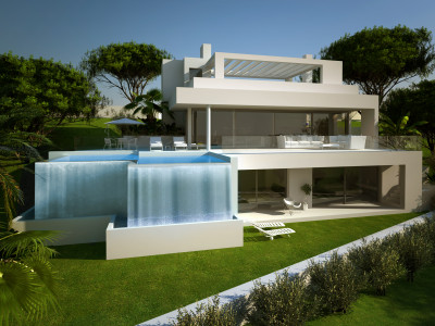 Estepona, Off-plan contemporary villa in construction in Estepona