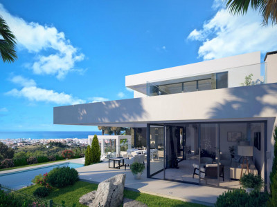 Benahavis, Project of contemporary villa in Benahavis with panoramic golf and sea views