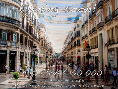 Malaga - Centre, Coming Soon! Studio / 1 bedroom apartments in Malaga Centre