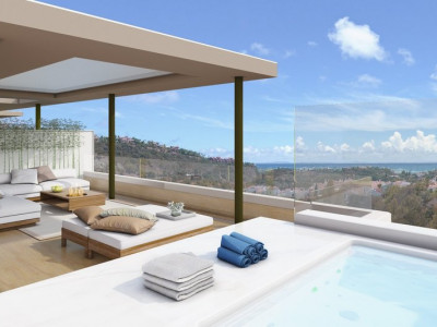Benahavis, 3 bedroom penthouse with sea views within a brand new unique residential development