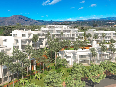 Estepona, Brand new 1 bed ground floor apartment with parking space and storage room in Estepona