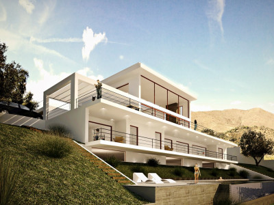 Marbella East, Spectacular contemporary  villa with sea views in Marbella East