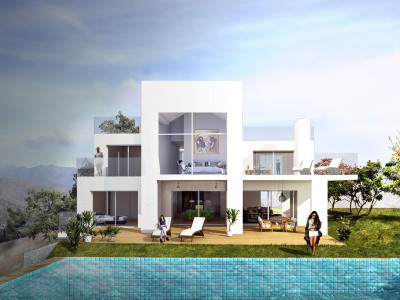 Marbella East, Modern villa under construction on a south orientated plot in Marbella East