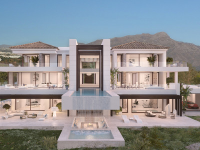 Benahavis, 360 degree contemporary villa project in Los Arqueros, Benahavis