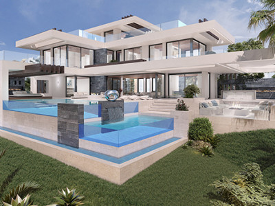 Benahavis, Wonderful contemporary villa project in Alqueria, Benahavis