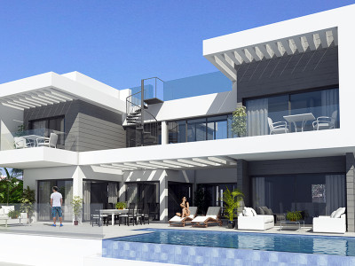 Mijas Costa, Contemporary villa project with stunning views in La Cala de Mijas
