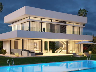 Estepona, Modern villa with stunning sea views in Estepona