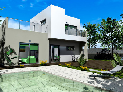 Estepona, Off-plan contemprary villa in Estepona