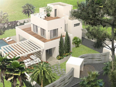 San Pedro de Alcantara, New construction beachside villa in San Pedro de Alcantara with quality specifications for sale