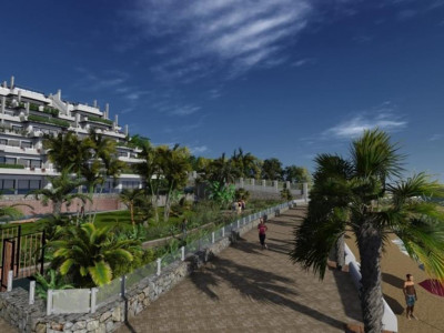 Estepona, Stunning contemporary beachfront apartment in Estepona overlooking the beach and sea