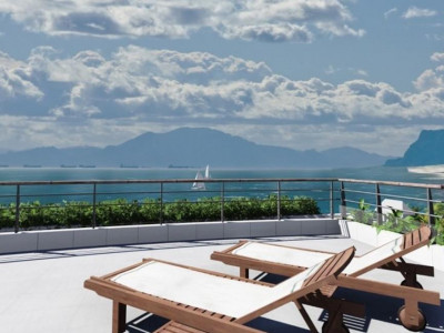Estepona, Contemporary beachfront penthouse apartment in Estepona overlooking the beach and sea