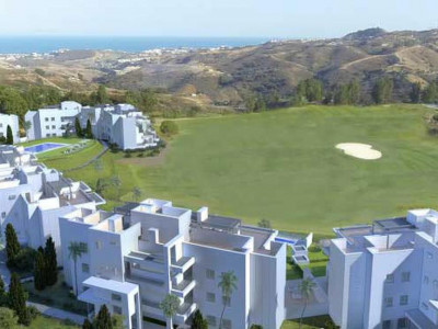 Mijas Costa, New penthouse apartment frontline golf for sale in Mijas Costa on the Costa del Sol with sea views