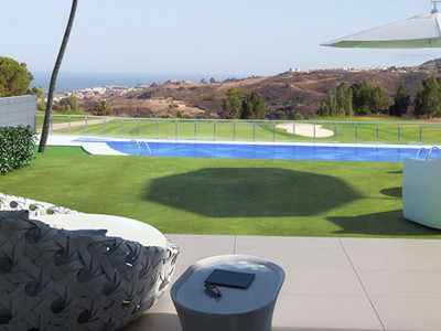Mijas Costa, New construction golf apartments for sale in Mijas Costa on the Costa del Sol with sea views