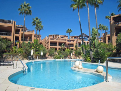 San Pedro de Alcantara, Beach front garden apartment in San Pedro de Alcantara within walking distance to town