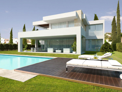 Estepona, Unique plot of land in the El Paraiso golf valley with the project already in place