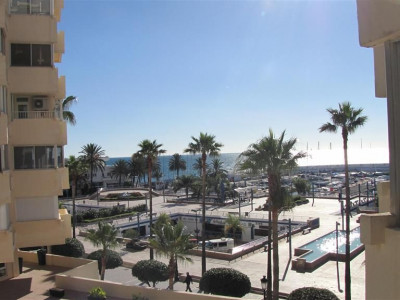 Marbella, Studio apartment property in Marbella on the promonade overlooking the harbour and sea