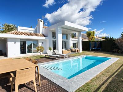 Marbella, Contemporary villa in the Nueva Andalucia golf valley near Puerto Banus on the Costa del Sol