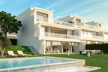 Sotogrande,EXCLUSIVE CONTEMPORARY 3,4 & 5 SEMIDETACHED VILLAS *** SEA VIEWS ***