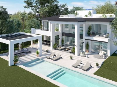 New luxury contemporary style villas in Puerto Banús beachside