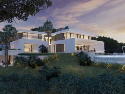 Contemporary six bedroom turnkey villas with private pools and sea views