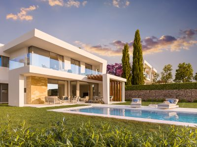 Contemporary villas with sea and golf views in Santa Clara Golf