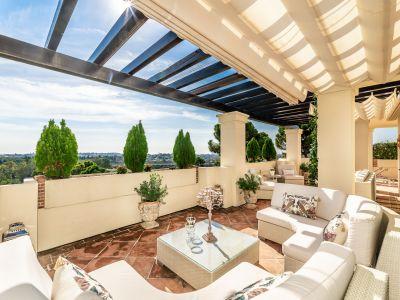 Luxusapartment mit Panoramameerblick in privilegierter Wohnanlage direkt am Golfplatz, Capanes del Golf