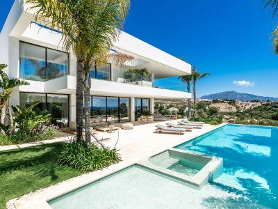 Stilvolle und exklusive Villa mit Panoramameerblick direkt am Golfplatz Los Flamingos