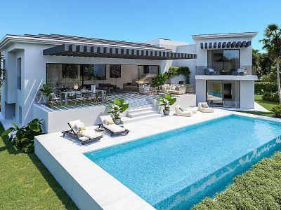 Villa moderna con vistas panorámicas al mar, Paraiso Alto
