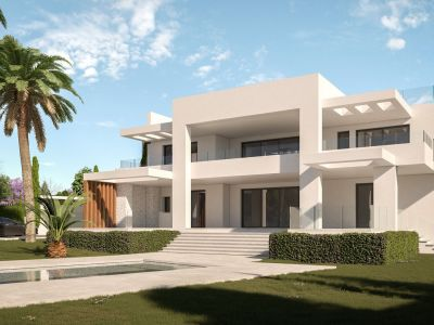 Modern brand new villa a few steps from the beach in Costabella Marbella