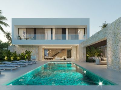Stylische Neubauvilla nur wenige Meter vom Strand