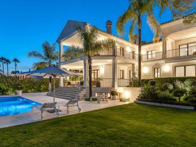 Contemporary villa with sea views