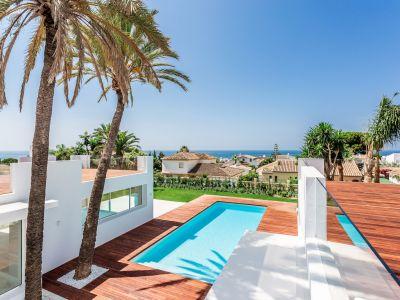 Bespoke villa with sea views 200m from the beach in Las Chapas Playa Marbella