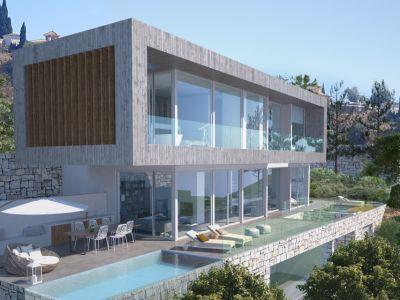 Modern villa project with golf and sea views in El Rosario Marbella