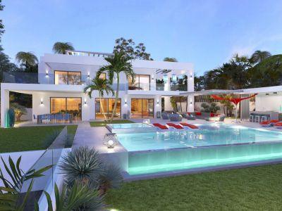 Villa moderne de luxe avec vue sur la mer à Marbesa, Marbella Est