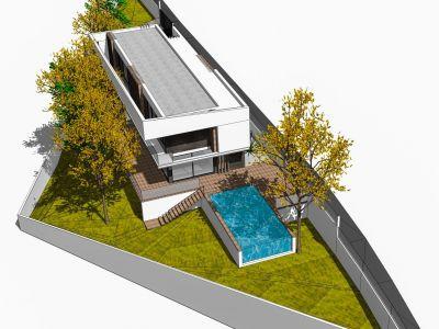 Parcela con proyecto de villa junto a Sierra Blanca