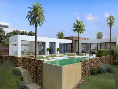 Modern designer villa with panoramic views in Altos de Los Monteros