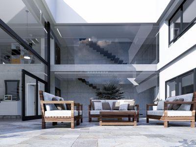 Villa de lujo en construcción a tan solo 600 metros de puerto de Benalmadena