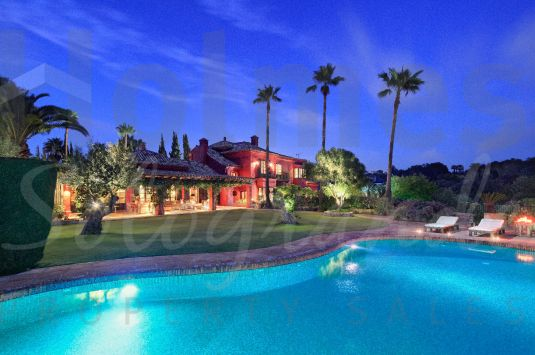 This exceptional villa in Sotogrande Alto has the most magnificent views across the San Roque Golf Course.