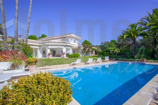 A superior villa situated on an elevated plot with southerly aspect in the prestigious Kings and Queens area, Sotogrande Costa.