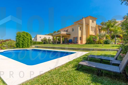 A fabulous 3 storey family home in Sotogrande Alto with inland views towards Valderrama and the mountains.