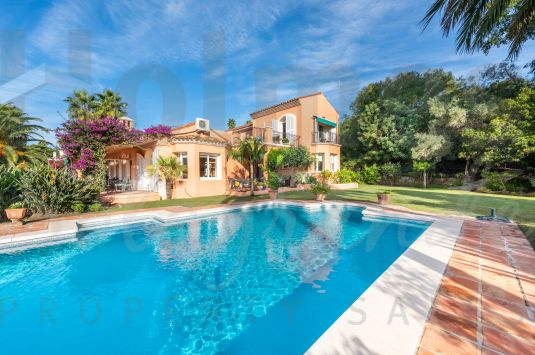 Traditional style south facing family villa with great views to the San Roque Golf Courses.