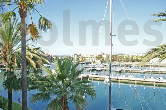 West facing 4 bedroom duplex apartment in Ribera del Arlequin with views of the inner marina.