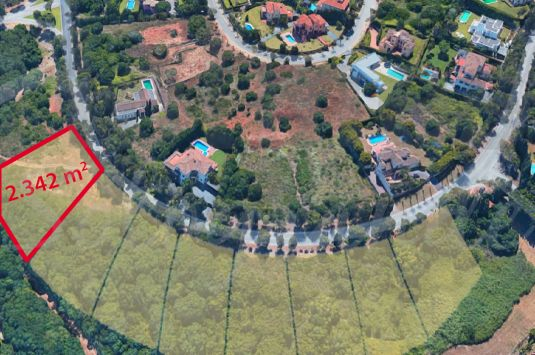A Sotogrande building plot situated in the highlighted area.