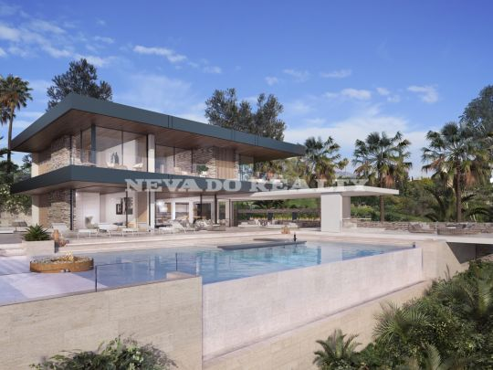 Fantastic contemporary villa project in gated community with sea views