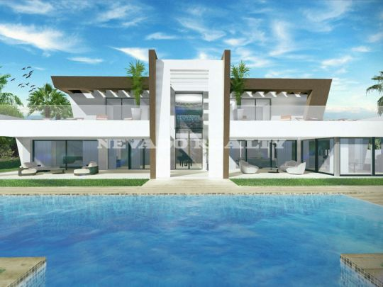 Magnificent villa under construction within Golf Resort with open views to the sea