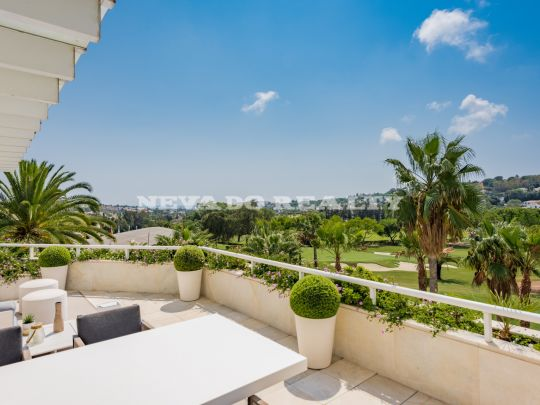 Breathtaking frontline golf corner penthouse for sale with private pool
