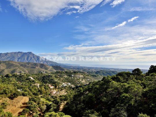 Plot in hilltop position with stunning panoramic sea views in La Zagaleta!
