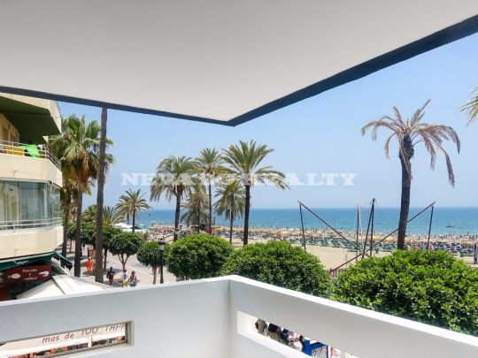One bedroom apartment completely refurbished in front line beach and promenade of Marbella